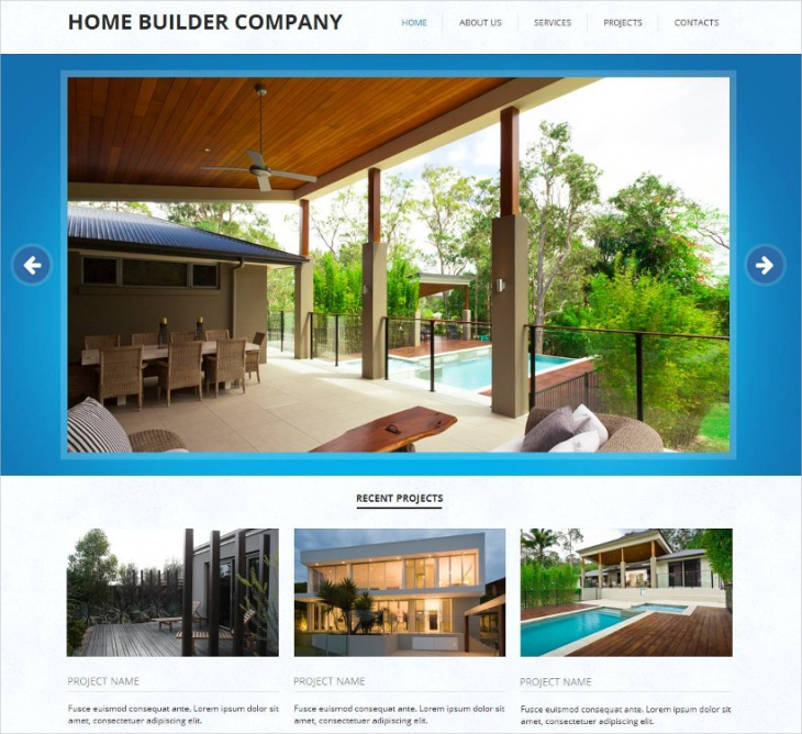 Home Builder Company Template