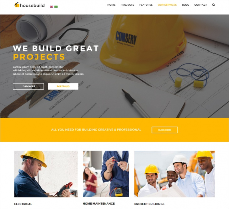 Joomla Construction Business Theme