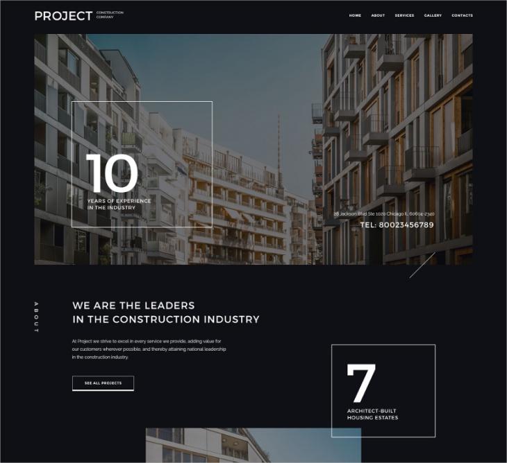 responsive project website template