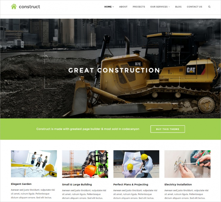 Wordpress Construction & Business Theme