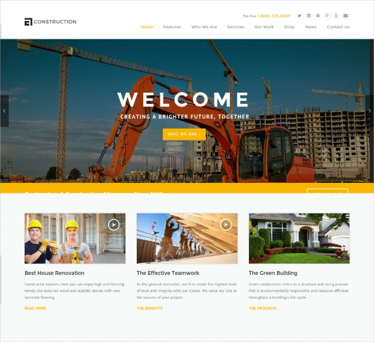 WP Construction Theme