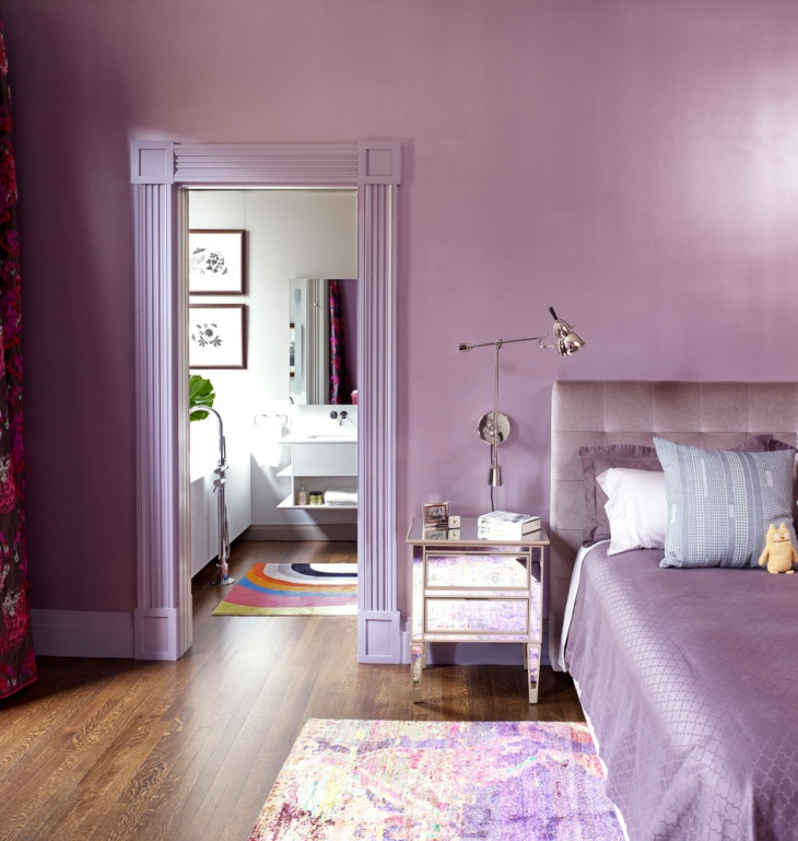 stylish purple pastel bedroom design