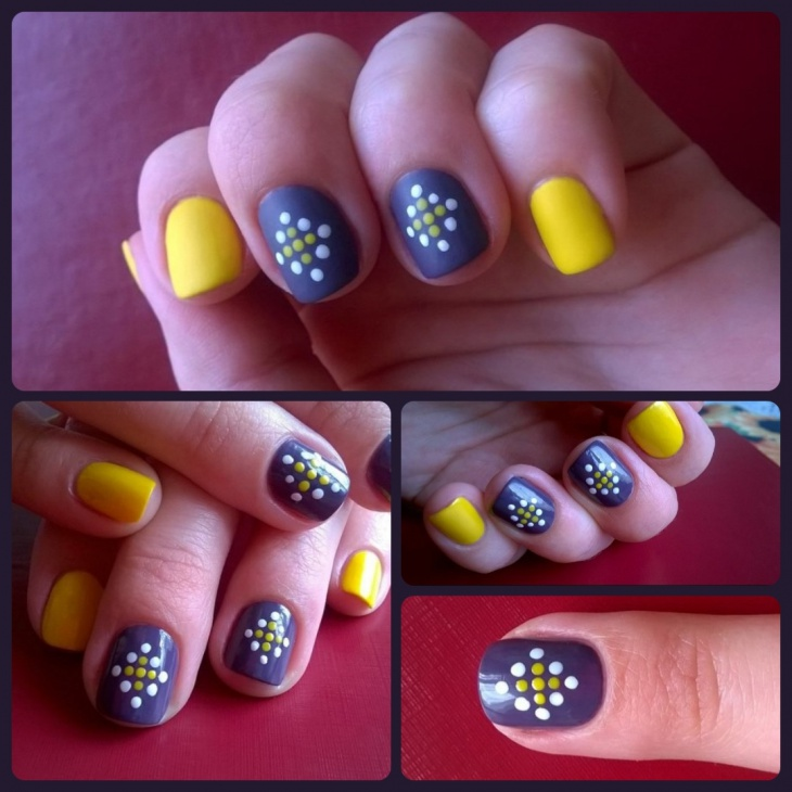 polka dot nail art idea