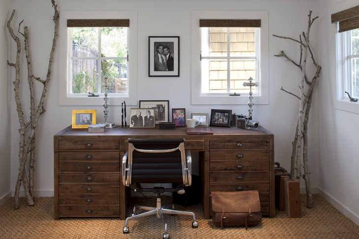 Rustic Home Office Computer Desk