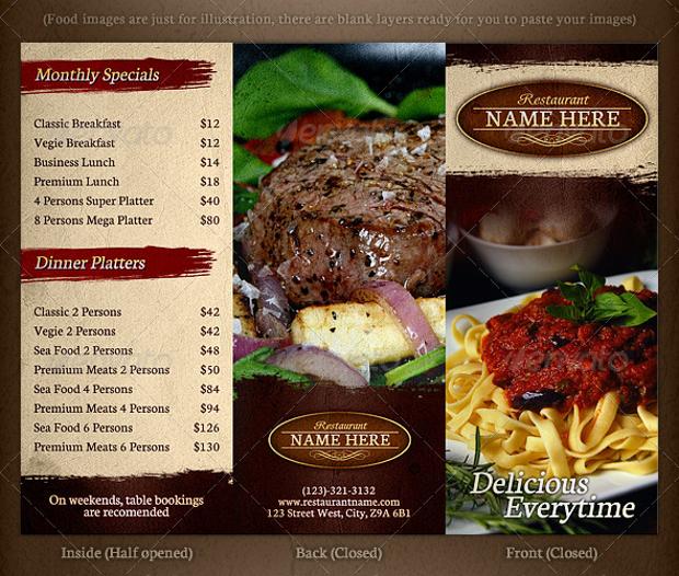 TriFold Restaurant Brochure