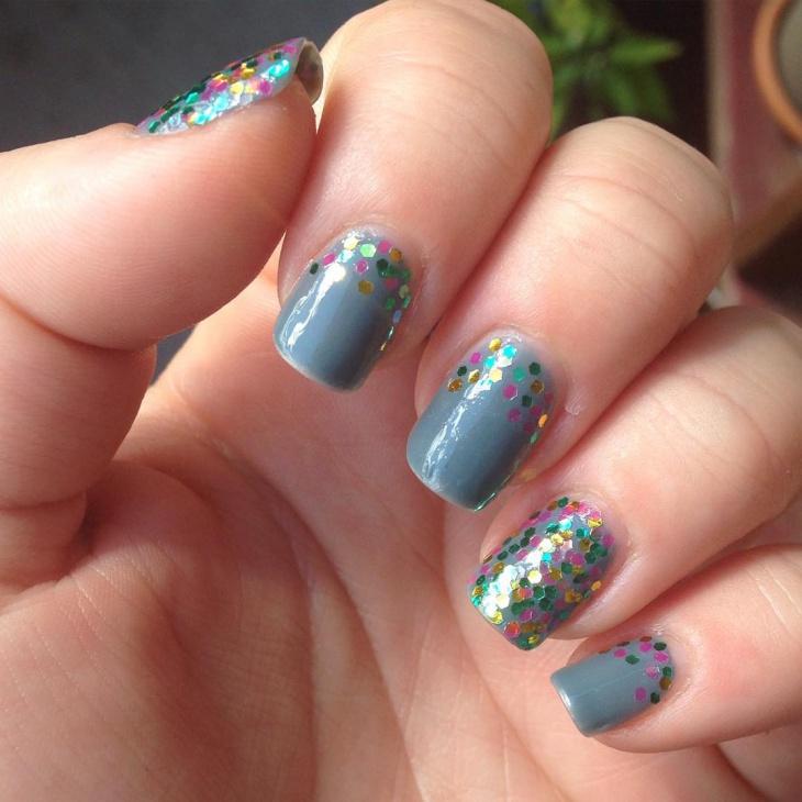 Colorful Glitter Nails Design