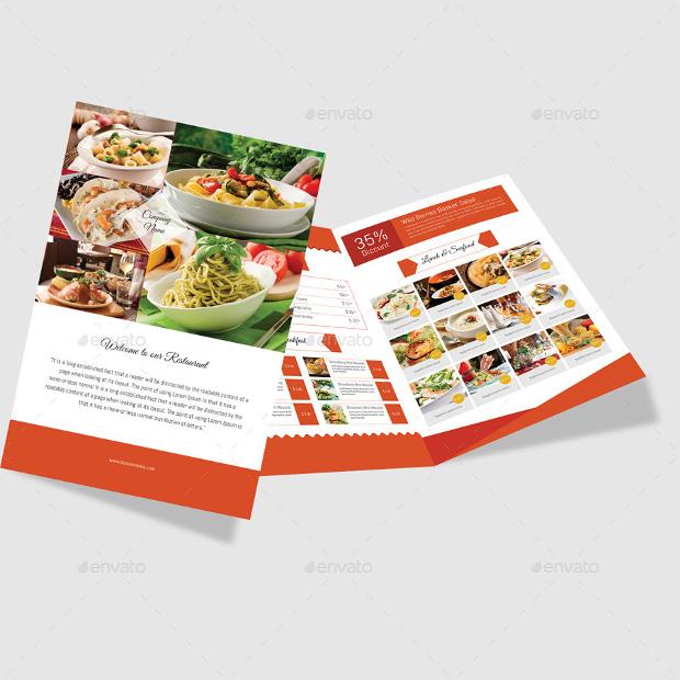 Modern Bi Fold Restaurant Brochure