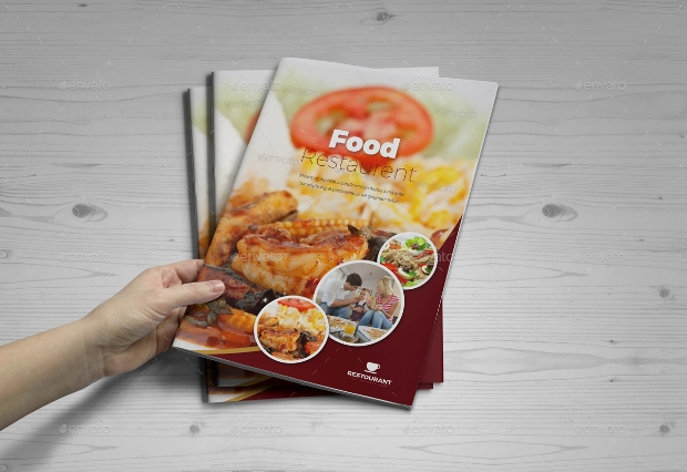 Food Restaurant Bifold Brochure InDesign