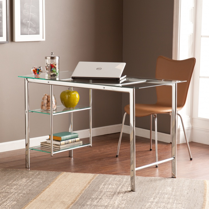 21 Computer Desk Designs Ideas Plans Design Trends: designer glass computer desk