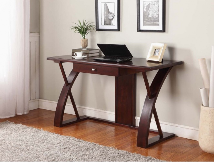 solid wood computer desk