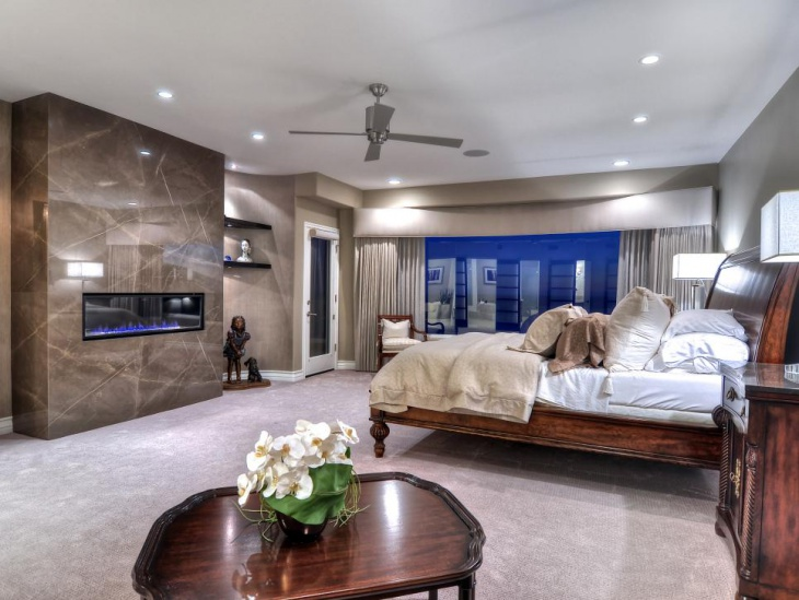 traditional wood furniture in master bedroom