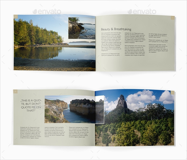 Classy Look Landscape Brochure Design