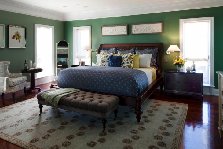 Eclectic Master Bedroom with Classic Furniture