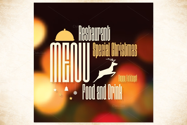 Special Christmas Restaurant Menu Brochure