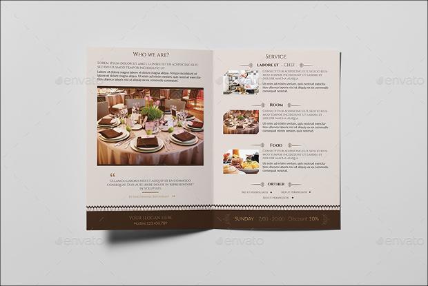 Fine Dining Restaurant-Bifold Brochure