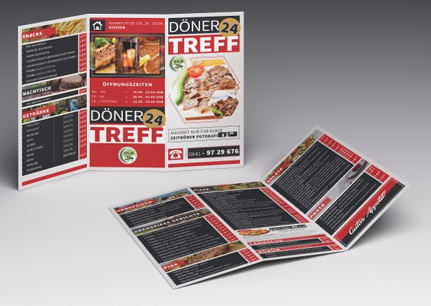 Cafe & Restaurant Trifold Brochure