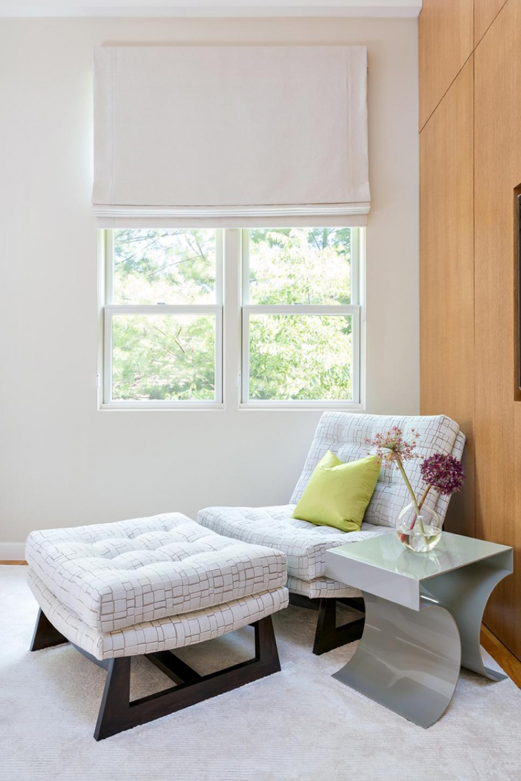elegant bedroom with danish furniture