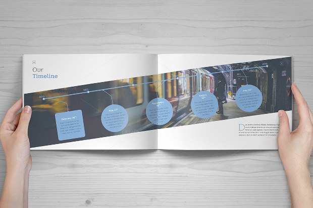 Elegant Landscape Brochure Design