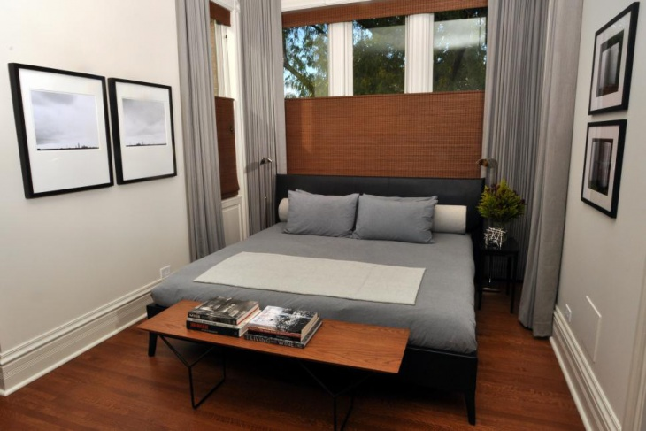 neutral bedroom with modern inspired furniture
