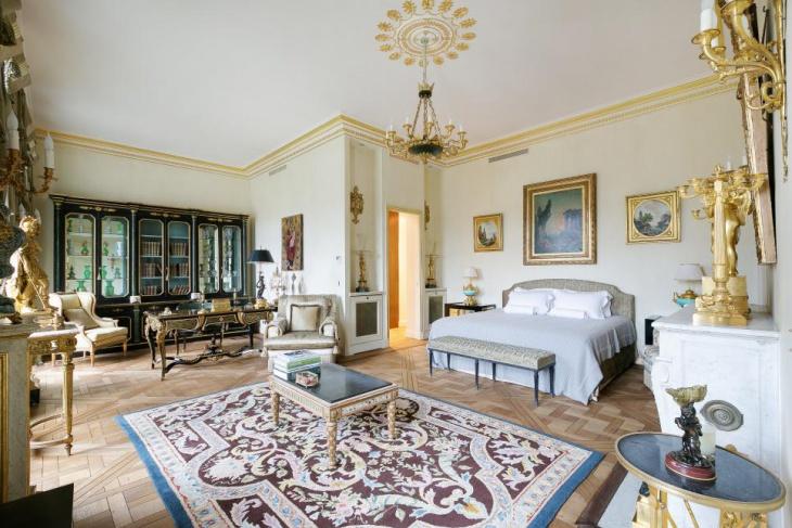 paris master bedroom with royal furniture