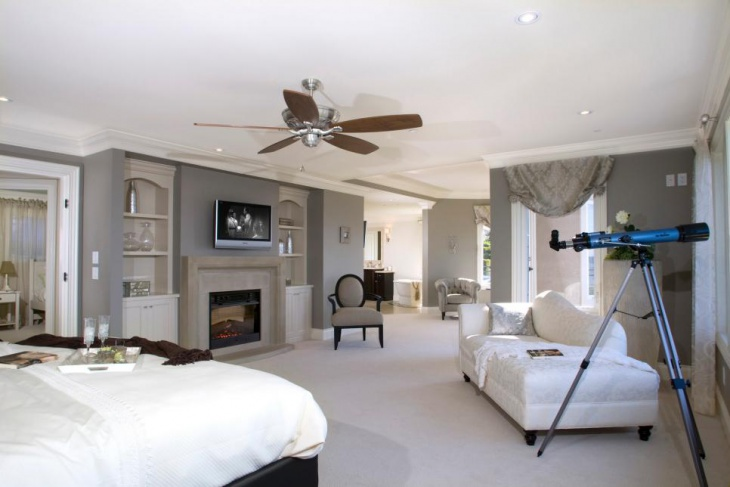 Contemporary Master Bedroom with Stylish Furniture