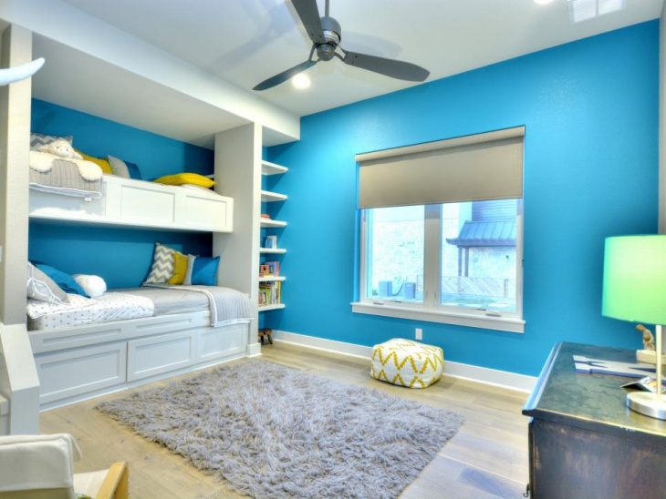 Blue Color Bedroom Design for Kid's