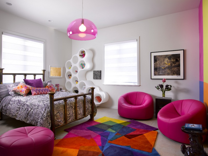 Stylish Kids Bedroom with Pink Furniture
