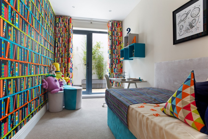 Funky Colorful Kids Bedroom
