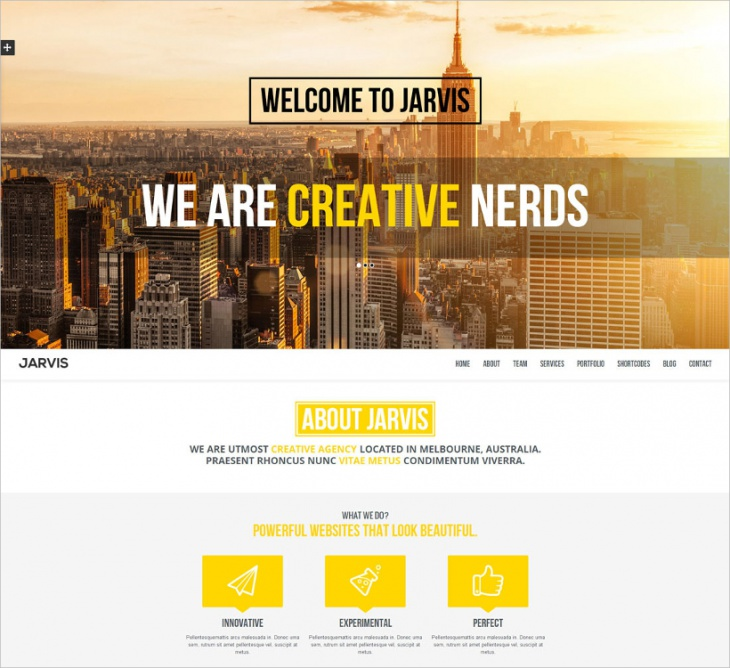 Onepage Parallax Website Template