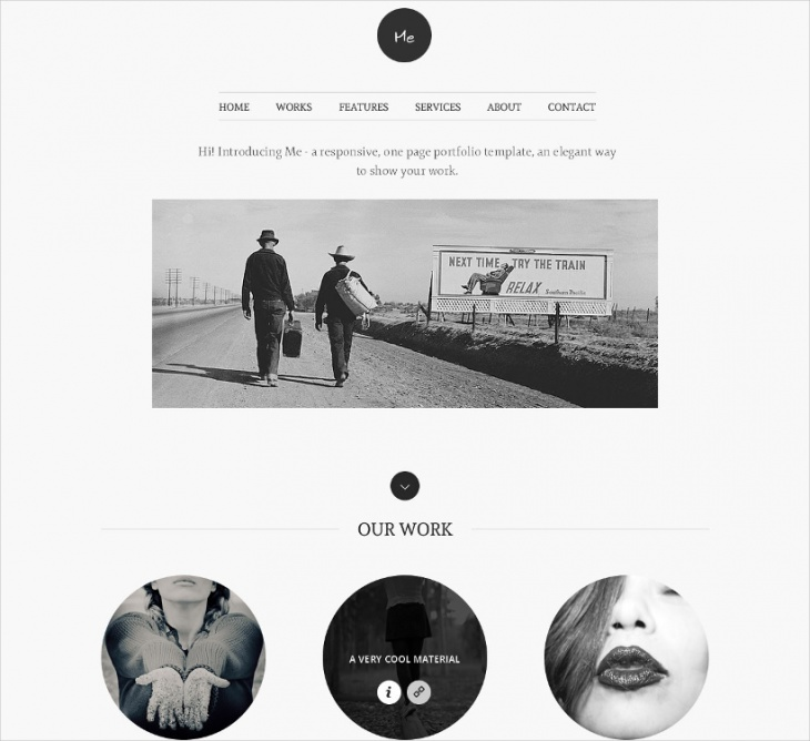 OnePage Portfolio Website Template