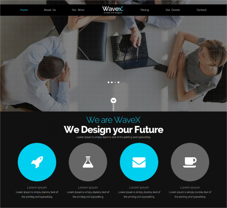 WaveX Single Page Template