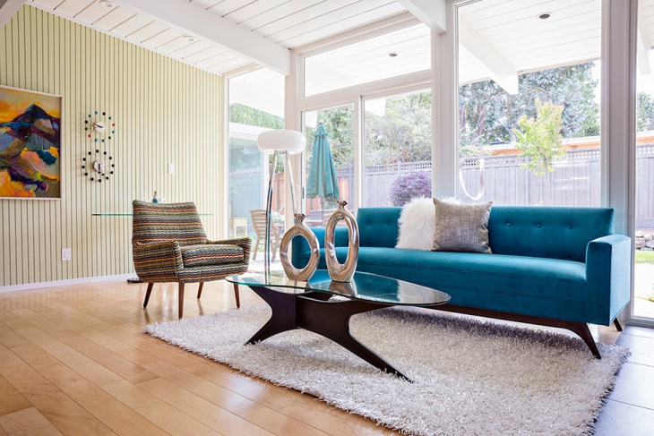 Midcentury living room with Luxirious furniture