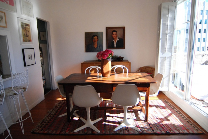Dining room with Wooden Finished Table