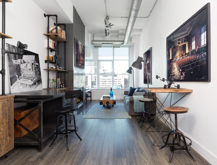 21+ Industrial Home Office Designs, Decorating Ideas