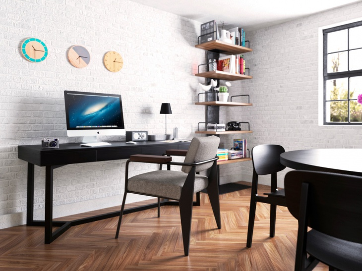 21 industrial home office designs decorating ideas for Simple office design