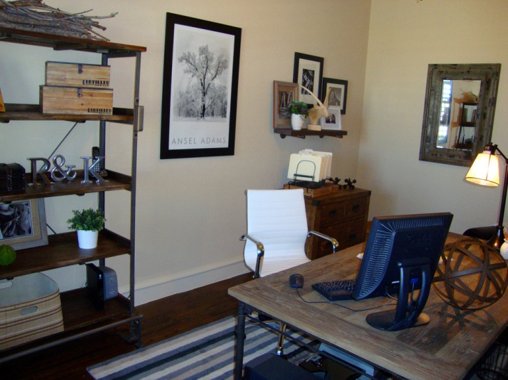 21 Industrial Home Office Designs Decorating Ideas Design Trends Premiu