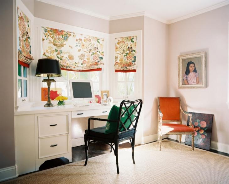 Vintage Style Feminine Work Space Design