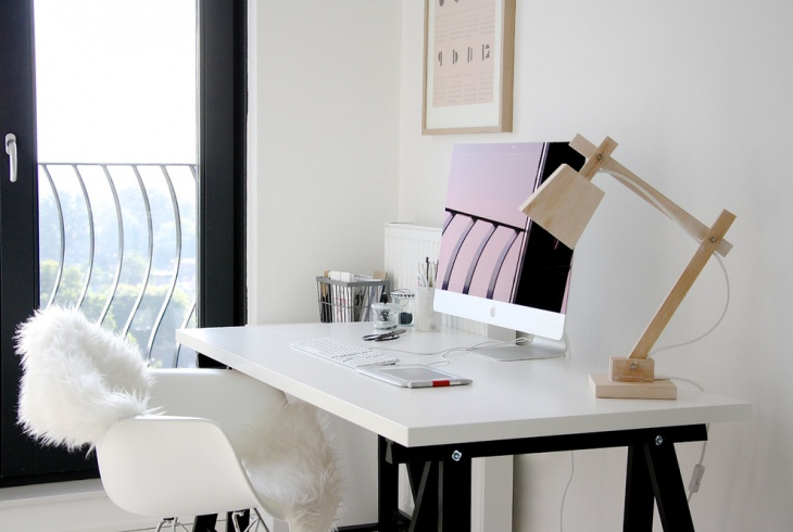 scandinavian home office work space design