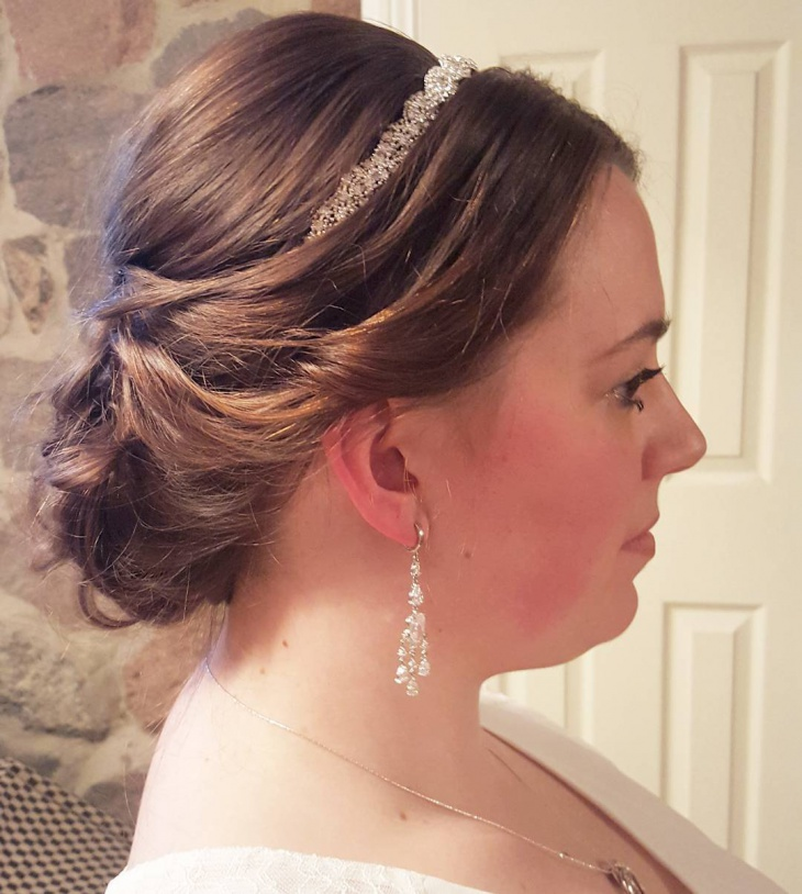Simple Short Wedding Hairstyle