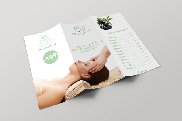 21 spa brochure design psd download design trends for Spa brochure templates