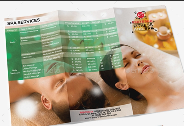 Fitness and Spa Trifold Brochure