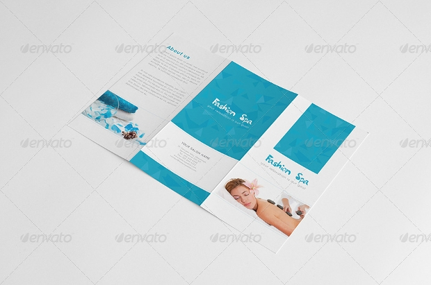 Editable Spa Trifold Brochure