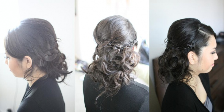 half up and down wedding hairstyle for short hair
