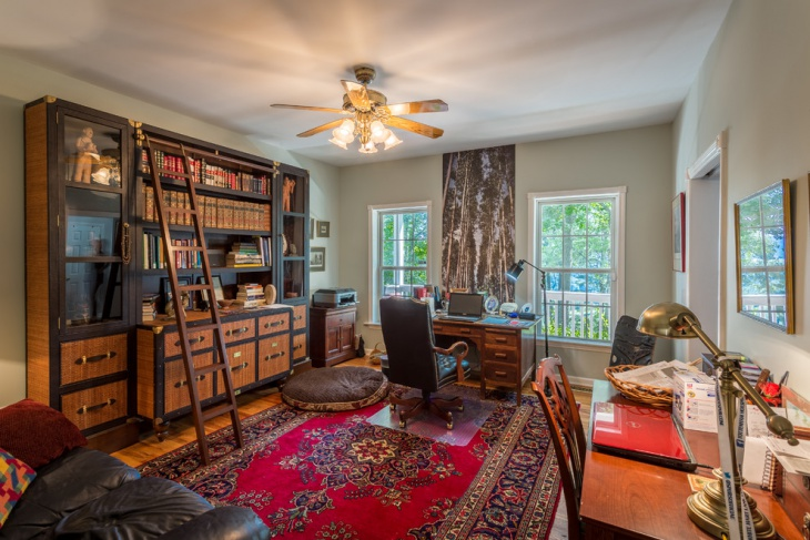 wooden shabby chic style home office design