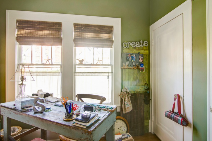 green shabby chic home office design chic home office design