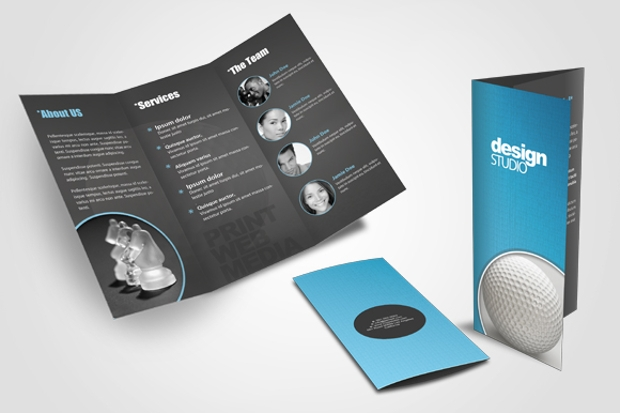 agency tri fold brochure design