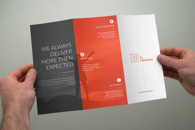 Tri Fold Brochure Design Psd Download  Design Trends