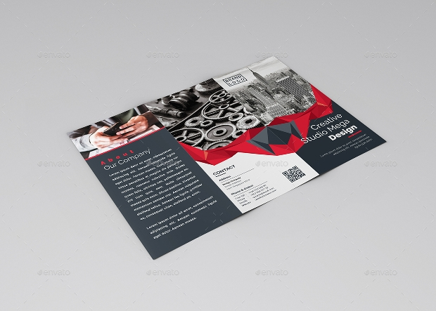 easy customizable tri fold brochure design