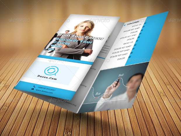 editable tri fold brochure design