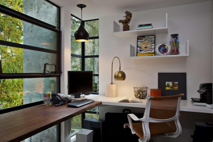 Home Office with Custom Designed Desk
